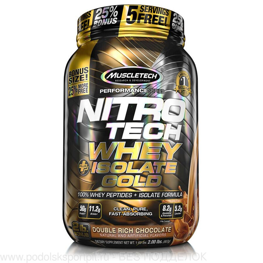 MuscleTech NITRO-TECH WHEY PLUS ISOLATE GOLD, 907 gr
