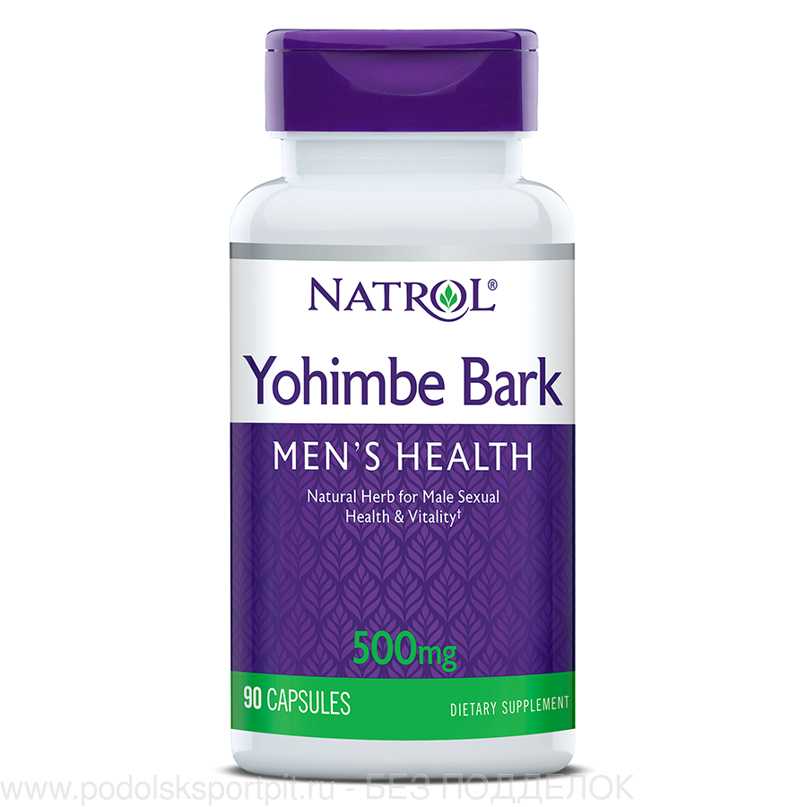 Natrol Yohimbe Bark, 500 mg, 90 caps