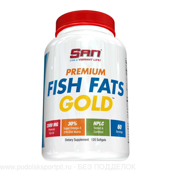 San PREMIUM FISH FATS GOLD, 120 softgels