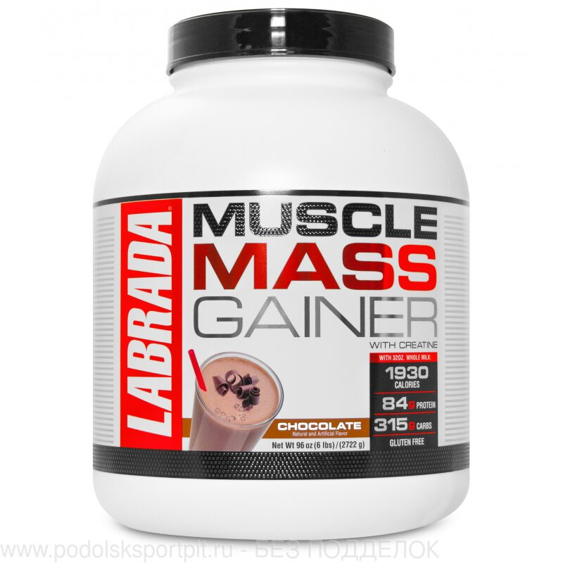 Labrada MUSCLE MASS GAINER 6LB, 2722 gr