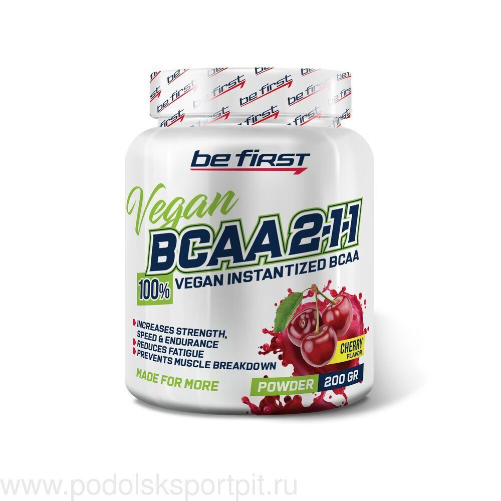 BeFirst BCAA 2:1:1 Vegan powder 200 гр