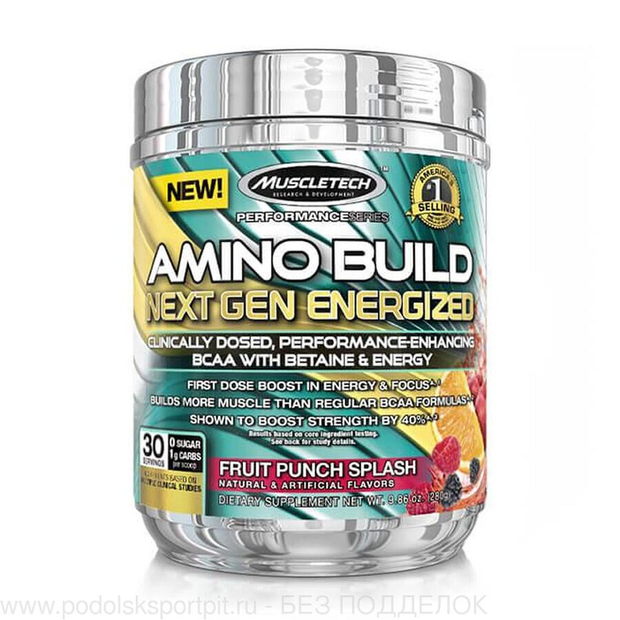 MuscleTech AMINO BUILD NEXT GEN ENERGIZED, 280 gr