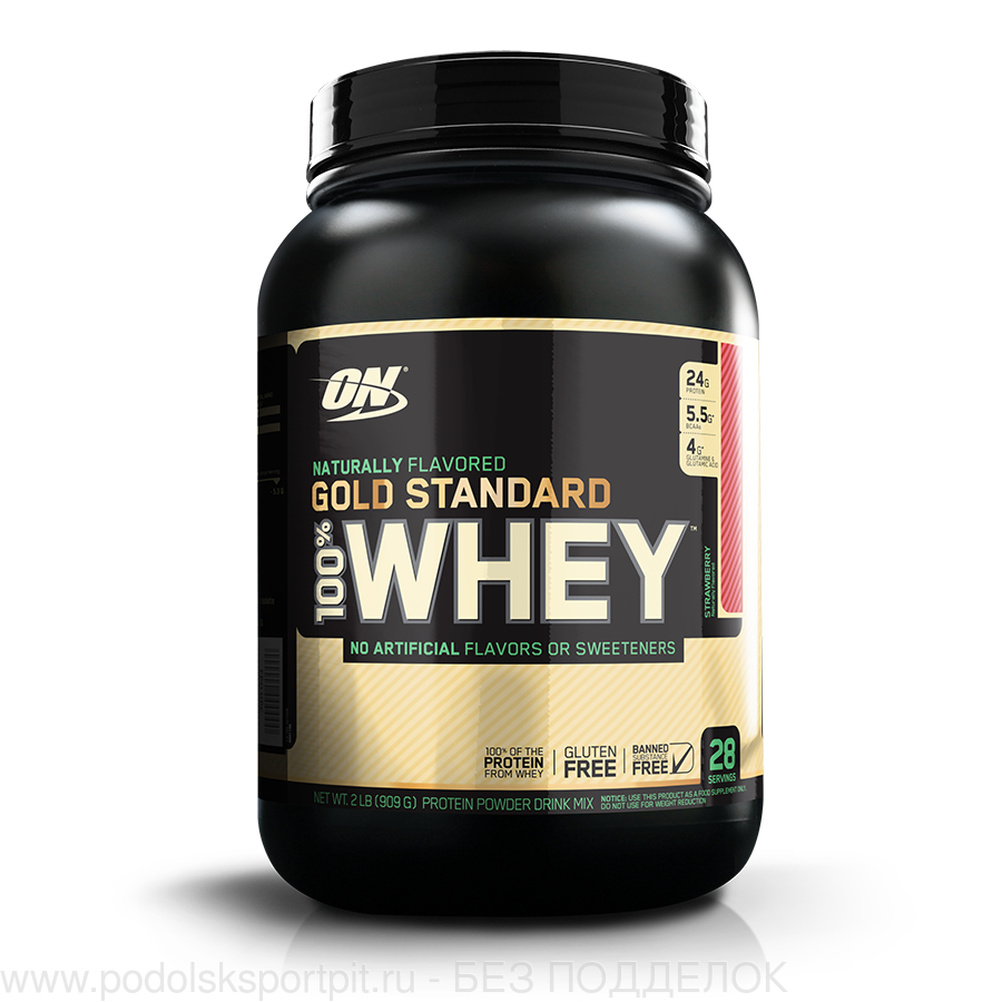 ON 100% WHEY GOLD STANDARD, NATURALLY FLAVORED, Gluten Free, 909 gr